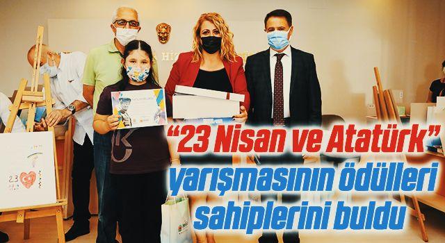 """Atakum'da """"23 Nisan ve Atatürk"""" yarışmasının ödülleri sahiplerini buldu"""