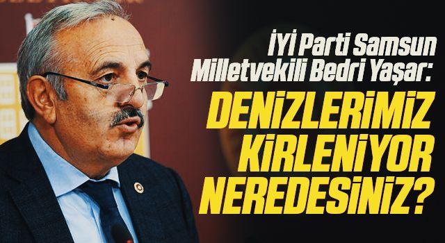 İYİ Parti Samsun Milletvekili Bedri Yaşar: Denizlerimizkirleniyor neredesiniz?