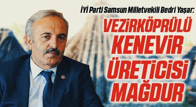 İYİ Parti Samsun Milletvekili Bedri Yaşar: Vezirköprülü kenevir üreticisi mağdur