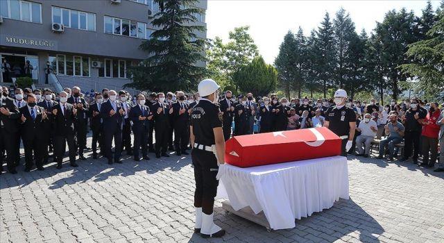 Muğla'da silahlı saldırıda şehit olan polis için tören düzenlendi