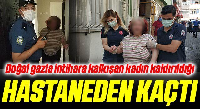 Samsun'da Doğal gazla intihara kalkışan kadın kaldırıldığı hastaneden kaçtı