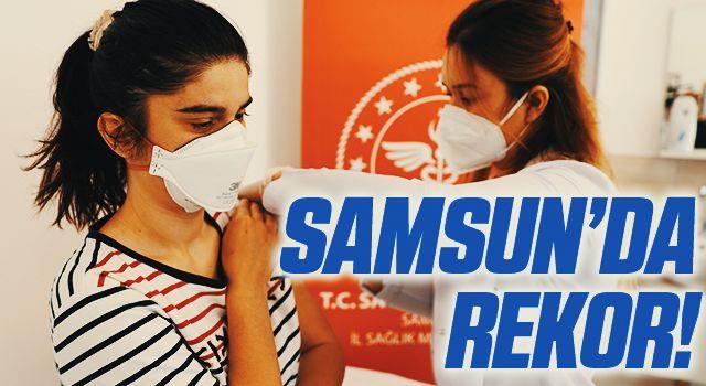 Samsun'da günlük aşı rekoru kırıldı