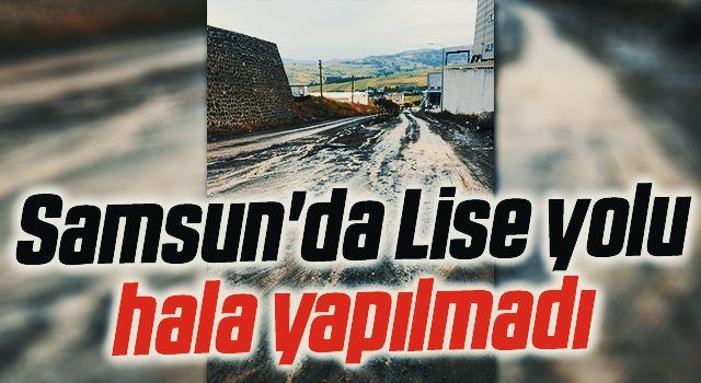 Samsun'da Lise yolu hala yapılmadı