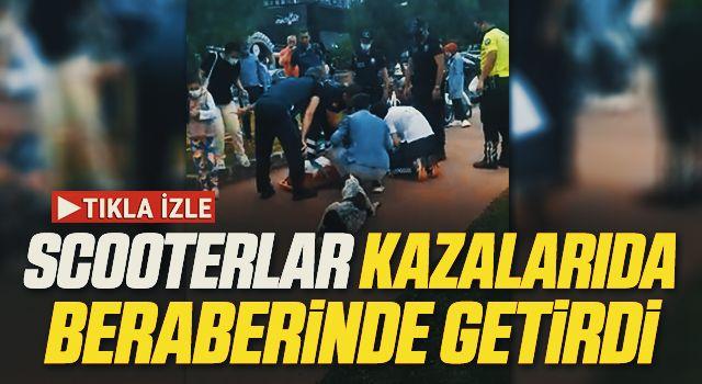 Samsun'da Scooterlar kazalarıdaberaberinde getirdi