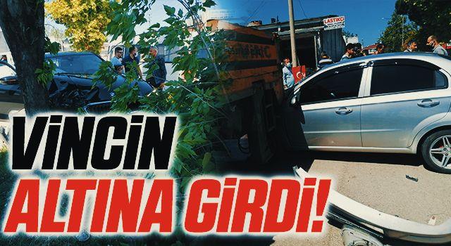 Samsun'da Araçlar perte çıktı