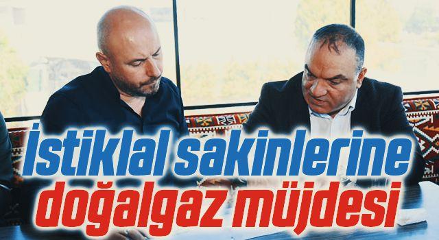 Tekkeköy'de İstiklal sakinlerine doğalgaz müjdesi