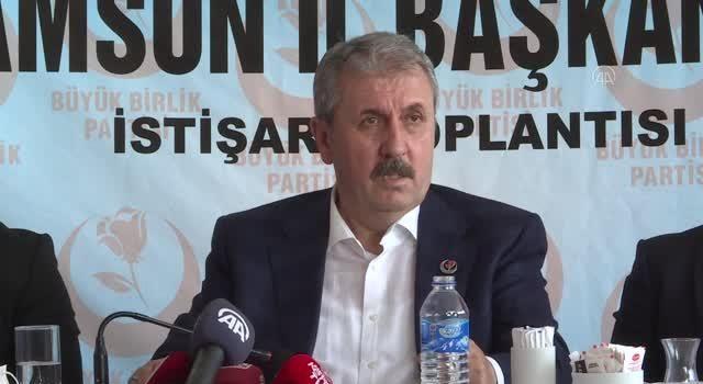 BBP Genel Başkanı Mustafa Destici, Samsun'da konuştu