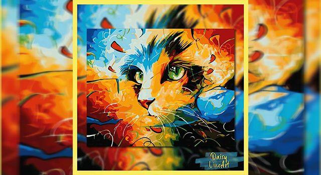 Daisy Line Art ile Rengarenk Tablolar!
