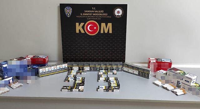 Samsun'da 2 bin 320 adet doldurulmuş sigara ele geçirildi