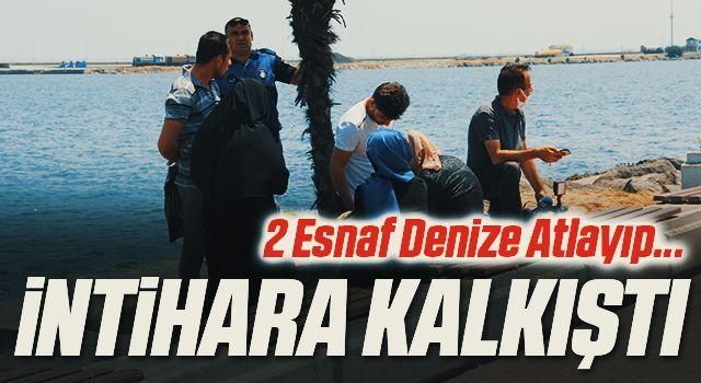 Samsun'da denizde intihara kalkışan kadını zabıta ve vatandaşlar kurtardı