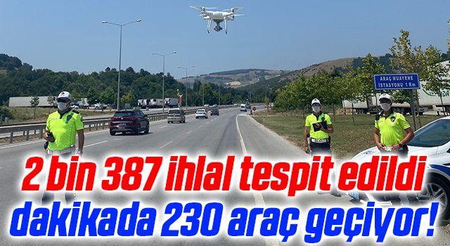 Samsun'da emniyetten trafik denetimi! 2 bin 387 ihlal tespit edildi dakikada 230 araç geçiyor!