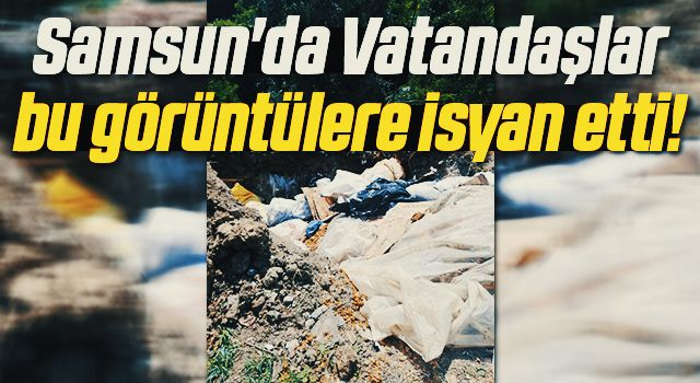 Samsun'da Vatandaşın atık isyanı