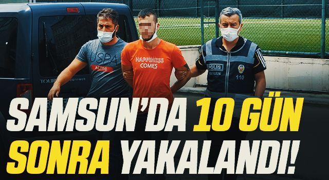 Samsun'daki silahla yaralama şüphelisi 10 gün sonra yakalandı