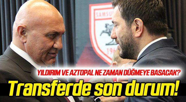 Samsunspor'un transfer çalışmalarında son durum...