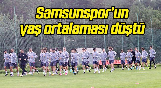 Samsunspor'un yaş ortalaması düştü...