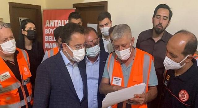 Ali Babacan afet bölgesinde 'Yangına tedbirsiz yakalanmak affedilemez'