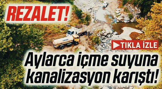 Aylarca içme suyuna kanalizasyon karıştı! Samsun'da Rezalet