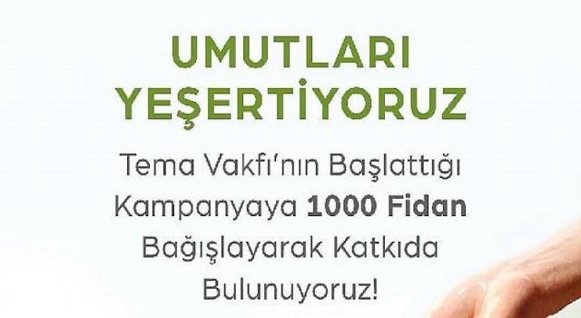 Kuzu Effect'ten Tema Vakfı'na 1000 fidan bağışı