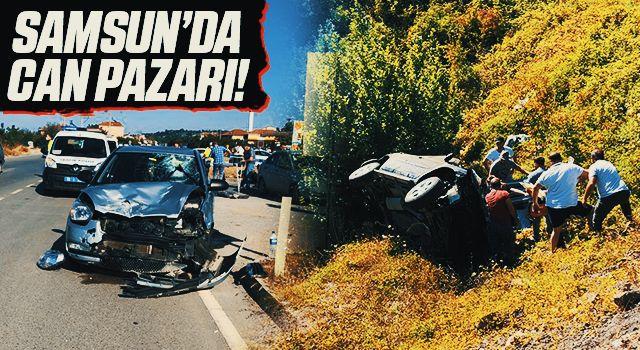 Samsun'da Can Pazarı! 3 Ayrı Kazada 3 Ölü 4 Yaralı