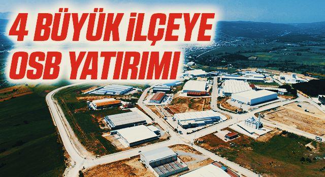 Samsun'da 4 büyük ilçeye OSB yatırımı