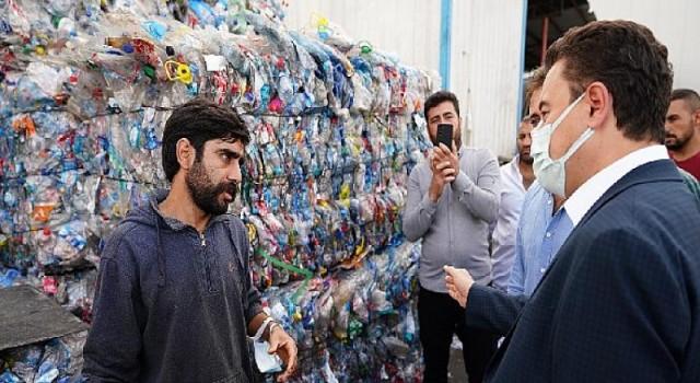 Babacan'dan geri dönüşüm atık toplayıcılarına: 'Meseleyi iyi anladık, dersimizi iyi çalışacağız'