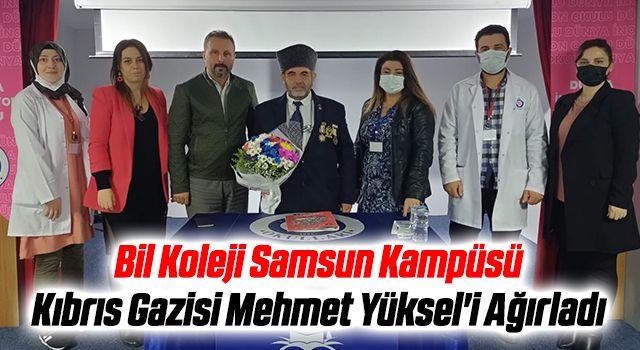 Bil Koleji Samsun Kampüsü Kıbrıs Gazisi Mehmet Yüksel'i Ağırladı