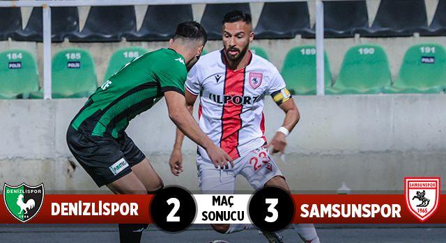 Denizlispor: 2 Yılport Samsunspor: 3 (maç sonucu)