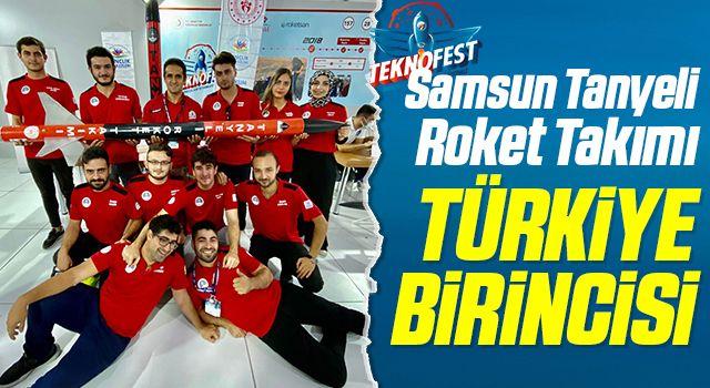 Samsun Tanyeli Roket Takımı TEKNOFEST 2021'de Türkiye birincisi
