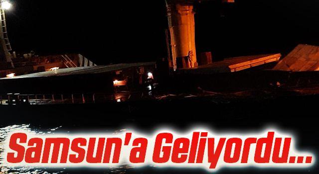 Samsun'a Geliyordu... Çanakkale Boğazı'nda iki gemi çatıştı