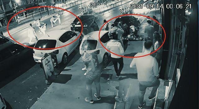 Samsun'da bıçakla yaralama anı güvenlik kamerasında