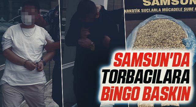 Samsun'da Torbacılara bingo baskın