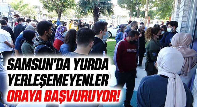 Samsun'da yurda yerleşemeyenler kamu misafirhaneleri için başvurdu