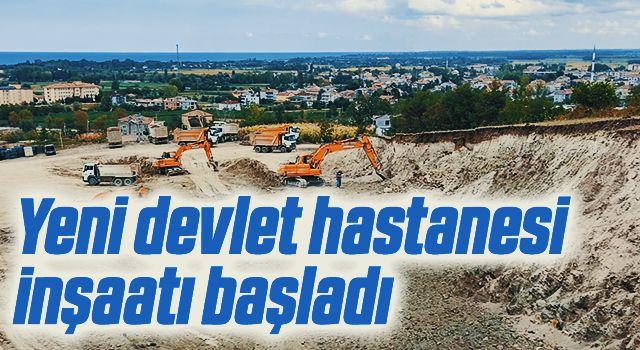 Yeni devlet hastanesi inşaatı başladı