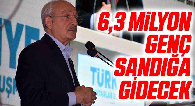 CHP Genel Başkanı Kemal Kılıçdaroğlu: 6,3 milyon genç sandığa gidecek