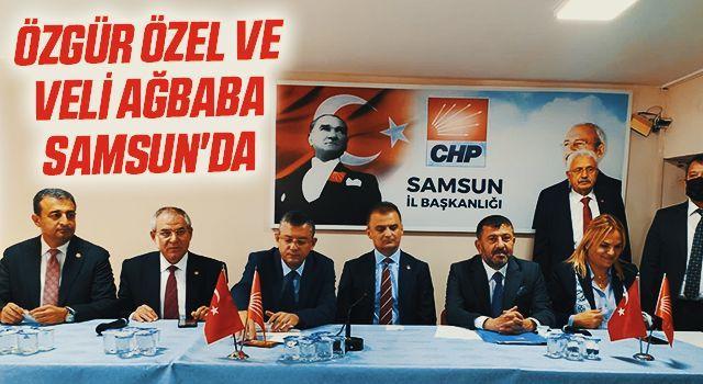 CHP Grup Başkanvekili Özgür Özel ve CHP Genel Başkan Yardımcısı Veli Ağbaba Samsun'da