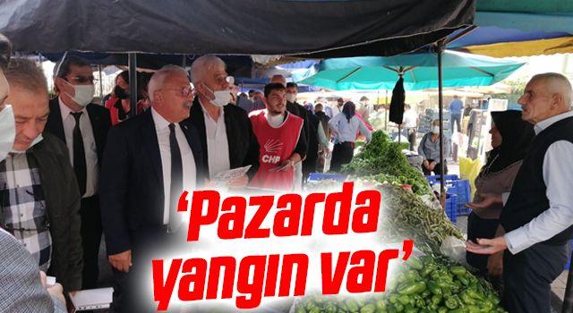 CHP İlkadım İlçe Başkanı Telatar: Pazarda yangın var
