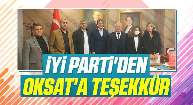 İYİ Parti'denOKSAT'a teşekkür