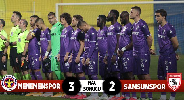 Menemenspor: 3 Yılport Samsunspor: 2 (Maç Sonucu)