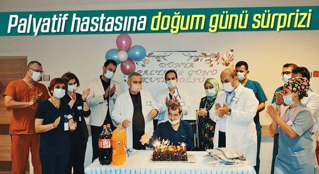 Palyatif hastasına doğum günü sürprizi