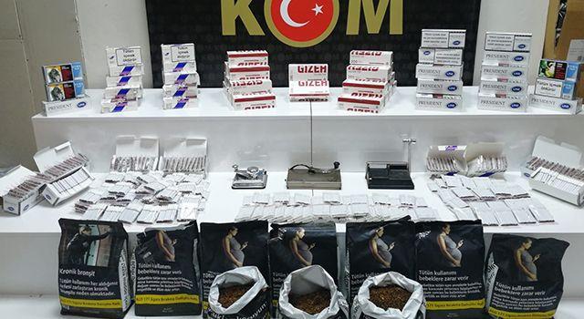 Samsun'da 19 bin 600 adet kaçak makaron ele geçirildi