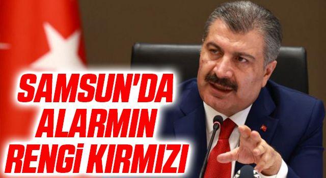 Samsun'da alarmın rengi kırmızı