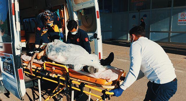 Samsun'da kamyonun çarptığı kadın ağır yaralandı