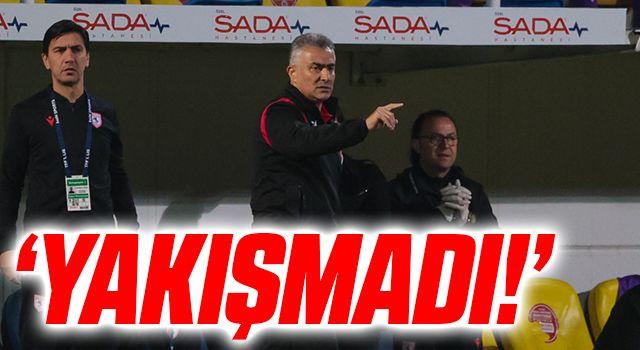 Yılport Samsunspor Teknik Direktörü Mehmet Altıparmak: Yakışmadı!