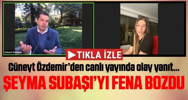 Cüneyt Özdemir, Şeyma Subaşı'yı canlı yayında fena bozdu!
