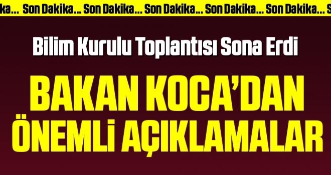 Türkiye'de corona salgınında son durum… Sağlık Bakanı Koca açıklama yapıyor