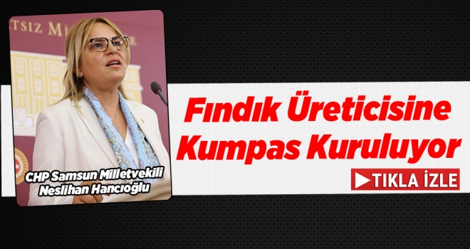 Milletvekili Hancıoğlu: Fındık üreticisine kumpas kuruluyor