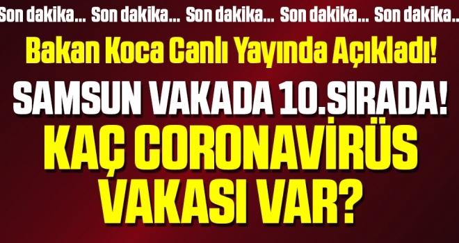 Samsun CoronavirüsVakasında 10.Sırada! Samsun'da Kaç Coronavirüs Vakası Var?