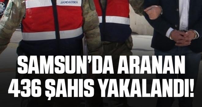 Samsun'da Jandarma 436 aranan şahsı yakaladı