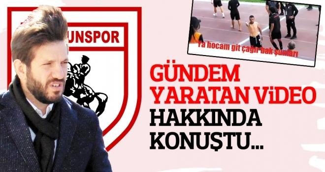 Samsunspor Genel Menajeri Aztopal: Videoyu izledim, değerlendireceğiz