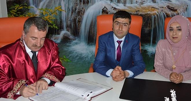 Havza Belediye Başkanı Sebahattin Özdemir İlk Nikâhını Kıydı.